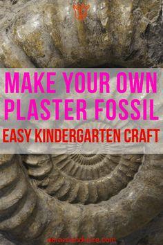 "Easy Kid Craft: Make Dinosaur ""Fossils"" Kindergarten Crafts, Preschool Learning, Fun Learning, Preschool Activities, Rainy Day Activities, Indoor Activities For Kids, Family Activities, Dinosaur Crafts, Dinosaur Toys"