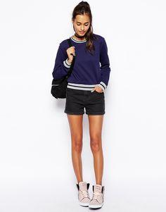 Image 4 ofASOS Sweatshirt with Contrast Rib