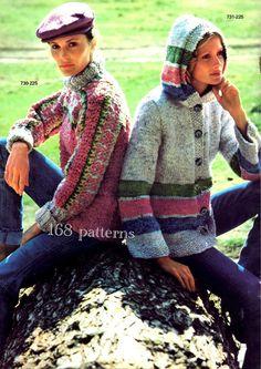 Vintage Sweaters  PDF knit patterns  2 download by Pattern168