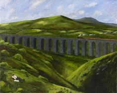 Gary Bunt | The Viaduct - Up on the dales on a summer's day The train passing by on the line Up on the dales is where I love to be Just whiling away the time