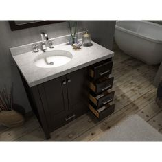 Bathroom Vanity with Right Offset Sink . Bathroom Vanity with Right Offset Sink . Virtu Usa Caroline Parkway 36 In Single Bathroom Vanity 30 Inch Bathroom Vanity, Bathroom Vanities For Sale, Light Fixtures Bathroom Vanity, Bathroom Vanity Designs, Wall Mounted Bathroom Sinks, Single Sink Bathroom Vanity, Vanity Sink, Bathroom Ideas, Bathrooms