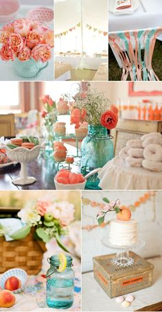 aqua decorating ideas | Reesa was kind enough to share the beautiful photos and yummy recipes ...