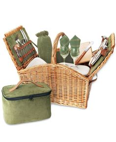 When it comes to picnic prep, packing is key. Go for a tricked-out basket to cut the time in half. This one's got plates, utensils, glassware and more! Picnic Time Somerset picnic basket