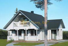 Проект №19067 двухэтажного дома 7х7м из бруса, площадью 96 м² c ценой строительства под ключ 2,4 млн. руб.