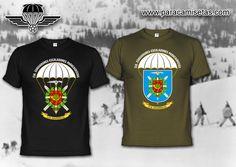 Compañía de Esquiadores Escaladores Paracaidistas. D.M. Navarra. Camisetas Militares. www.paracamisetas.com