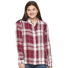 Juniors' Plus Size SO® High-Low Shirt, Girl's, Size: