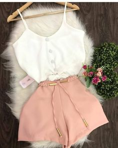 Pink Outfits, Summer Fashion Outfits, Sexy Outfits, Cute Casual Outfits, Pretty Outfits, Stylish Outfits, Teenager Outfits, Outfits For Teens, Mode Instagram