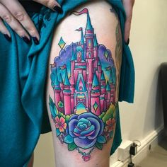 Just coloured in Laura's Disney castle! We listened to 3 hours of Disney bangers as we got it done hahah. Thank you so much, more big colourful pieces please!