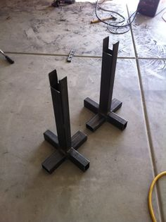 Jack Stands by PELLEY -- Homemade jack stands intended to facilitate Bronco maintenance operations. Fabricated from 2x3 0.120 wall square tubing. http://www.homemadetools.net/homemade-jack-stands