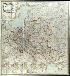 All World Map, Poland Map, Geography Map, Old Maps, Historical Maps, Planer, Vintage World Maps, How To Draw Hands, History