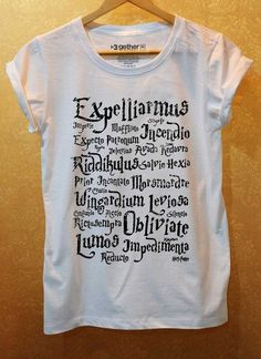 spell shirt ~ Harry Potter style by clarice