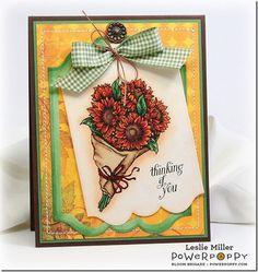 Sunny Harvest Stamp Set -- Stamps by Power Poppy, Card Design by Leslie Miller!