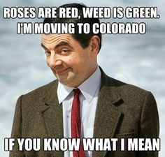roses are red, weed is green. I'm moving to Colorado... if you know what i mean! #smoking, #smokingqoutes, #smoke