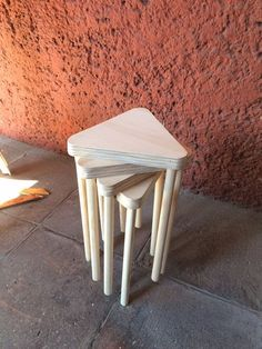 Plywood stackable tables