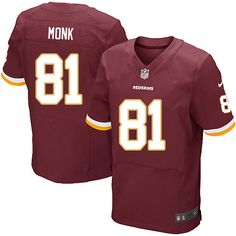 Nike Elite Art Monk Burgundy Red Men's Jersey - Washington Redskins #81 NFL Home