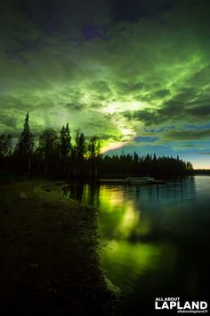 Amazing Auroras over Levi lake.