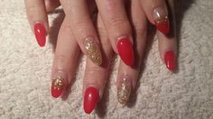 red-gold nails