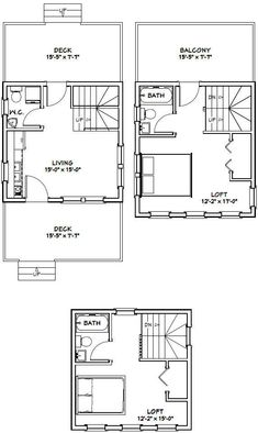 21 Best 16x16 Tiny house images | Tiny house, House, Tiny house plans
