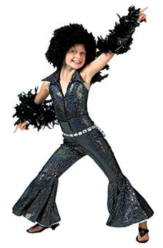 Girls Disco Boogie Halloween Costumes Large 12-14 >>> Check out the image by visiting the link.