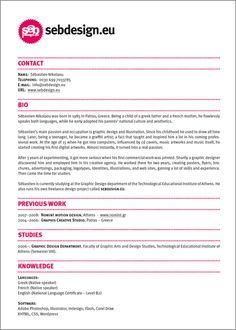 CV muy enfocado a visitar el portfolio web del candidato para ampliar información