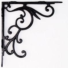 Housegoblin HG015 Art Deco Cast Iron Large Shelf Bracket
