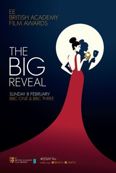 BAFTA 2015 - « The Big Reveal » est une série de 5 illustrations rétro et néo-noire sous la forme de posters des principaux films en compétition : Boyhood, The Grand Budapest Hotel, Imitation Game, The Theory of Everything et Birdman.
