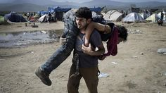 Flüchtlinge in Idomeni: 2016