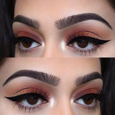 """Colours of my life  Brows: @anastasiabeverlyhills • Brow wiz in """"Ebony"""" and """"Dark Brown"""" Eyes: @anastasiabeverlyhills • modern renaissance palette (Cyprus umber, realgar, and golden ochre) Liner: @thebalm_cosmetics • schwing black liquid eyeliner  Lashes: @luxylash in """"BAE"""" use code """"CHELSEA"""" for 20% Inner corner: @anastasiabeverlyhills • ultimate glow palette """"White sand""""  Used @morphebrushes to create this eye look  #makeup #instamakeup #cosmetic #cosmetics #mua #fashion #eyeshadow #l..."""