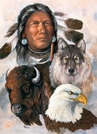 Piece Count 1000 Pieces Artist B. Roberts Puzzle Size x x 68 cm) Age Theme American Indian / Wolf / Eagle Manufacturer Masterpieces UPC 705988714542 Native American Paintings, Native American Pictures, Indian Pictures, Native American Warrior, Native American Wisdom, Native American History, American Symbols, American Spirit, Indian Wolf