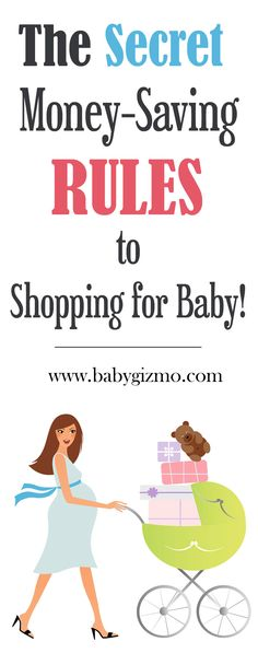 How to SAVE money on baby gear! These are the money-saving rules (secrets!)! #budget #save