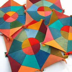 English paper pieced quilt blocks. The Silly BooDilly