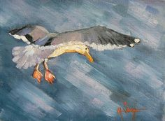 Daily Painting Oil Bird 6x8 Oil Original by CarolSchiffStudio, $89.95