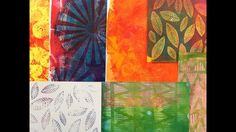 Printing on Gelli Arts® Gel Printing Plates with Flexible Texture Plates