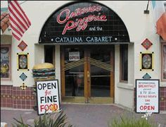 Antonios Pizzeria and Cabaret located on the waterfront with great pizza and the best antipasto salad ever.