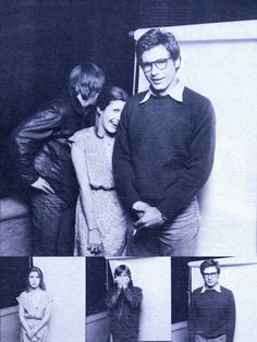 Mark Hamill, Carrie Fisher and Harrison Ford, 1977