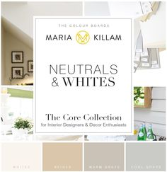 Ask Maria: Do the Undertones in Dark Colours Need to Match? - Maria Killam - The True Colour Expert Interior Paint Colors, Paint Colors For Home, Paint Colours, White Beige, White Trim, The Undertones, Paint Your House, Oak Cabinets, Colour Board