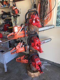 Image result for chainsaw storage rack