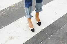 Image result for chanel two tone slingback