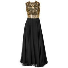 Preowned Elizabeth Arden Beaded And Chiffon Evening Dress (€940) ❤ liked on Polyvore featuring dresses, gowns, vestidos, black, sequin evening dresses, beaded sequin dress, chiffon dresses, beaded gown and beaded chiffon gown