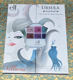 e.l.f. Disney Villains Makeup Look Books Swatches and Photos