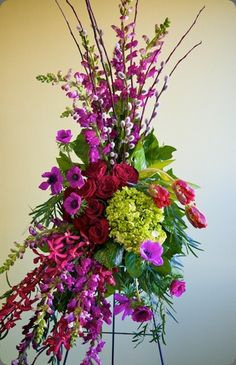 Stunning mix of tropical and temperate flowers.  from Ruby Blooms Fancy Flowers https://www.facebook.com/pages/Ruby-Bloom-Flowers/124195307648010