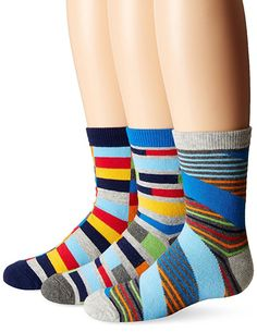$3.33 each - Jefferies Socks Big Boys Funky Stripe Crew Socks, Multi, X-Small (3 Pair Pack)  4.6 out of 5 stars(110)  $9.99  Size: X-SmallColor: Multi