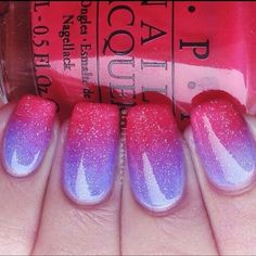 Purple and Pink Ombre nails - If you like these nails follow my board 'nails adorned'