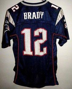 New England Patriots #12 Tom Brady Jersey YOUTH LARGE 14-16 Reebok NFL Boys MVP