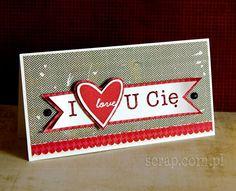 Walentynka z love… Scrapbook Cards, Scrapbooking, Love You, My Love, Pigment Ink, Loving U, Cardmaking, Valentines Day, Stamps