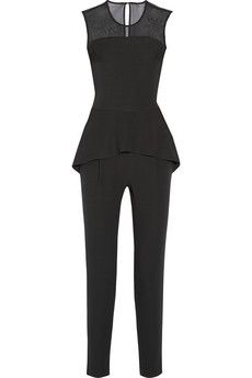 Combining the trends of sheer and jumpsuit perfectly... Paul & Joe Charmeur crepe peplum jumpsuit | NET-A-PORTER