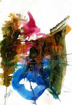"""Saatchi Online Artist: Behzad Bagheri; Watercolor, Painting """"A different kind of energy"""""""
