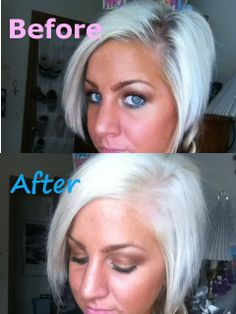 Getting Hair White Or Platinum Blonde Quick At Home Just In Case I