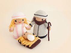 Amigurumi Pesebre Navidad (patrón gratis) Chrochet, Maya, Nativity, Christmas Cards, Religion, Winter Hats, Shabby Chic, Crochet Hats, Teddy Bear