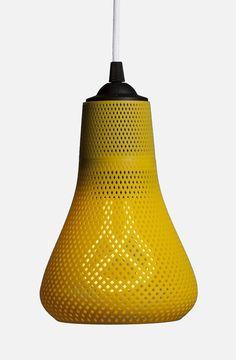 Lamp / mesh / yellow / cable / plumes bulb / leManoosh.com